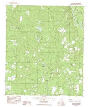 Vancleave topo map