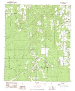 Harleston topo map