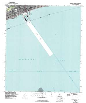 Gulfport South topo map