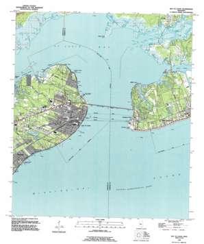 Bay Saint Louis topo map