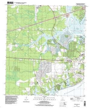 Waveland topo map