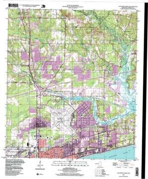 Gulfport North topo map