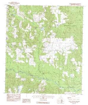 Whites Crossing topo map