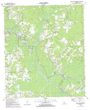 French Settlement topo map