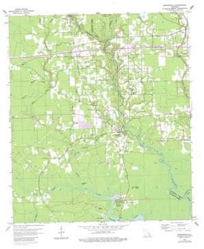 Springfield topo map