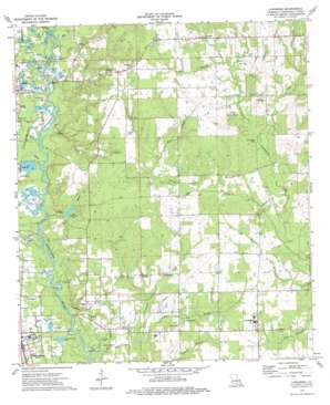 Loranger topo map