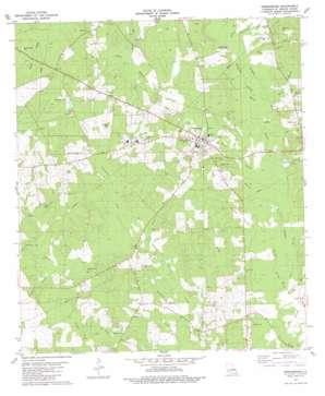 Greensburg topo map