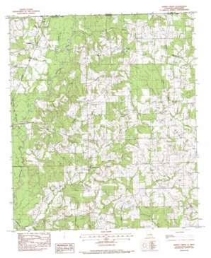 Spring Creek topo map