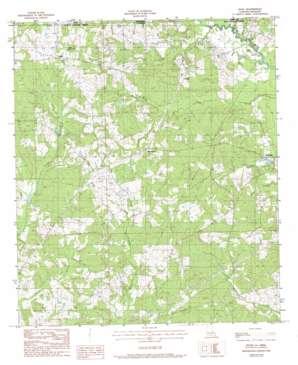 Woodland topo map