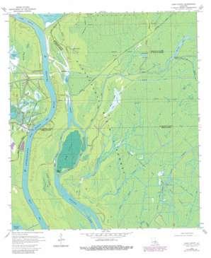Lake Chicot topo map