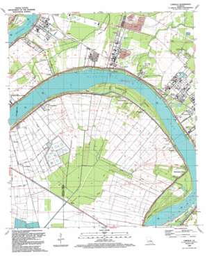 Carville topo map