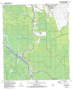 Bayou Sorrel topo map
