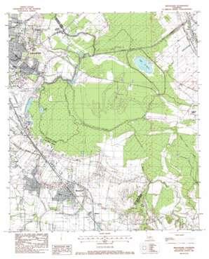Broussard topo map