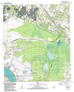 Saint Gabriel topo map