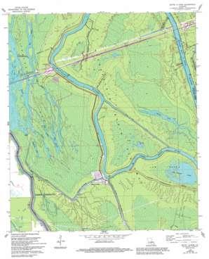 Butte La Rose topo map
