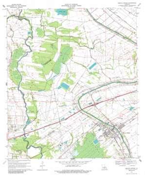 Breaux Bridge topo map