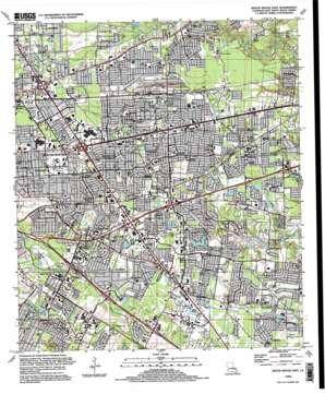 Baton Rouge East topo map