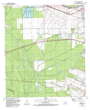 Lobdell topo map