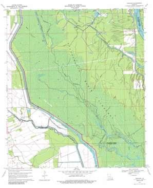 Portage topo map