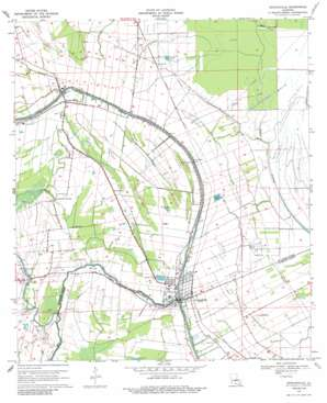 Arnaudville topo map
