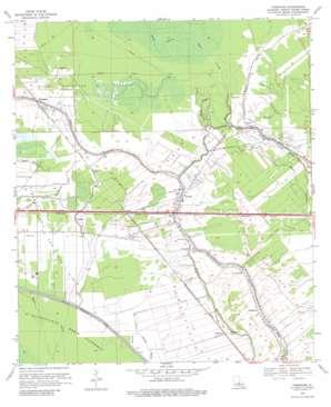 Fordoche topo map