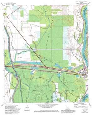 Krotz Springs topo map