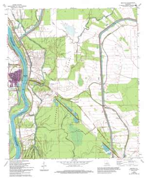 Melville topo map