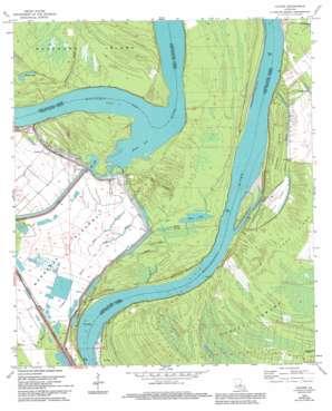 Lacour topo map
