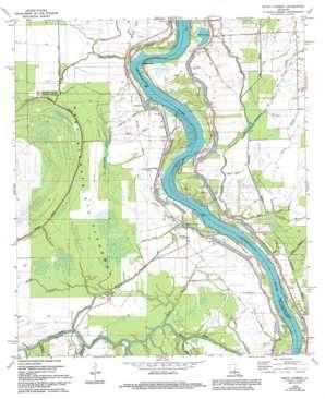 Bayou Current topo map