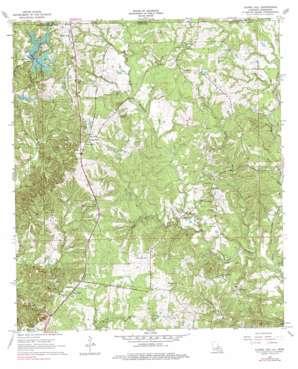 Laurel Hill topo map