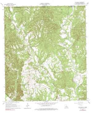 Weyanoke topo map