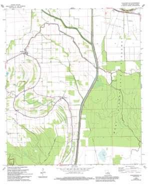 Plaucheville topo map
