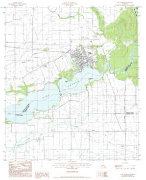 Lake Arthur topo map