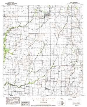 Duson topo map