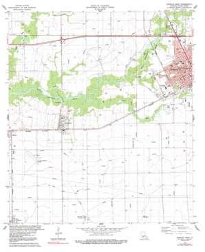 Crowley West topo map