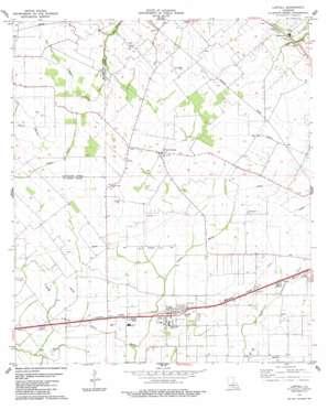 Lawtell topo map