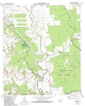 Beggs topo map