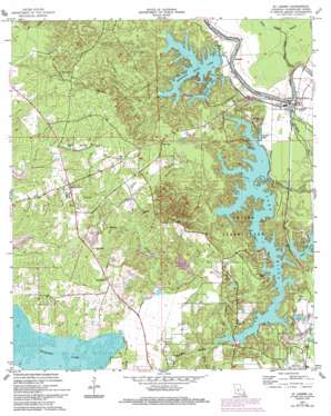 Saint Landry topo map