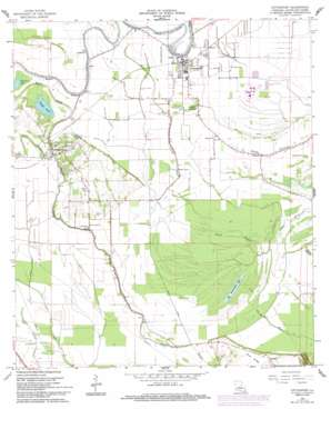 Cottonport topo map