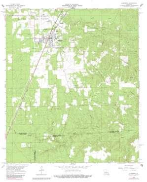 Glenmora topo map
