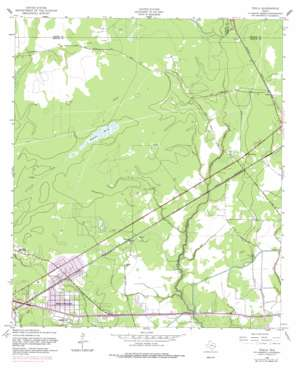 Texla topo map