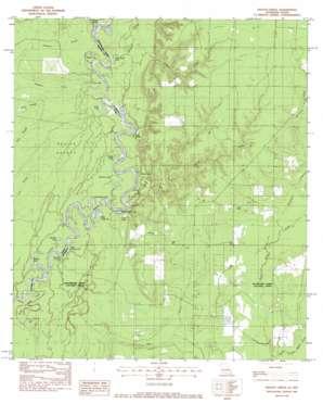 Shoats Creek topo map