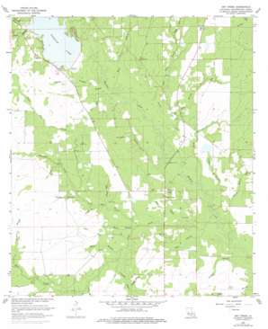 Dry Creek topo map