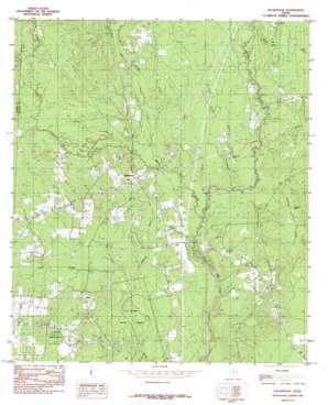 Bleakwood topo map
