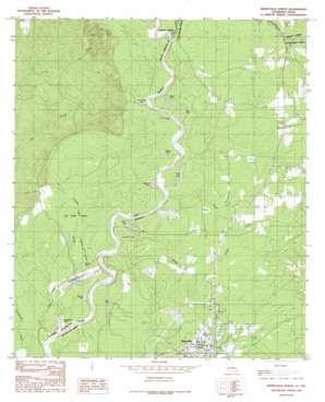 Merryville North topo map