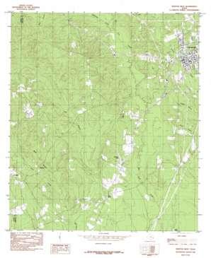 Newton West topo map