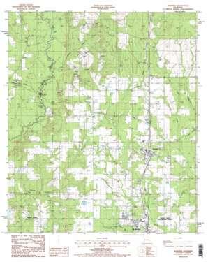 Rose Pine topo map