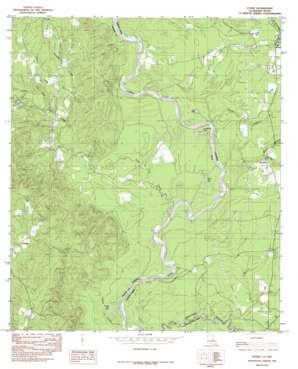 Evans topo map