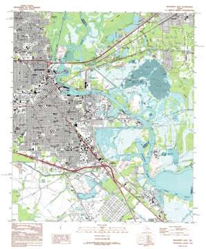 Beaumont East topo map