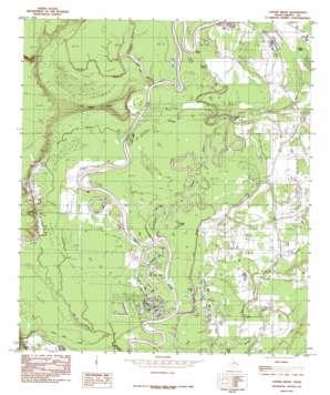 Capers Ridge topo map